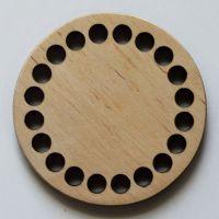 Донышко, форма круг, 75*6 мм