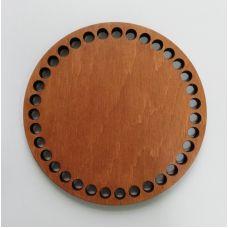 Донышко, форма круг, 120*6 мм, цвет Дуб