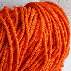 Шнур полиэфирный 5 мм, цвет оранжевый 49