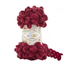 Пряжа Alize Puffy, цвет 107 (тёмно-красный)
