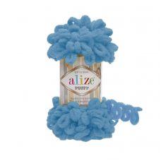 Пряжа Alize Puffy, цвет 16 (Голубой Сочи)