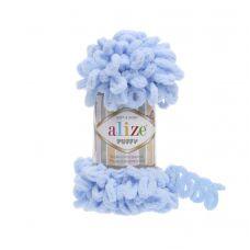 Пряжа Alize Puffy, цвет 183 (светло-голубой)