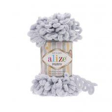 Пряжа Alize Puffy, цвет 416 (серый)