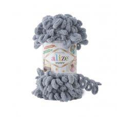 Пряжа Alize Puffy, цвет 428 (средне-серый)