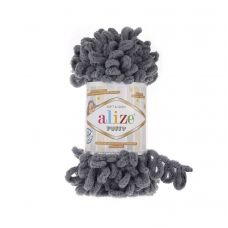 Alize Puffy, цвет 87 (угольно-серый)