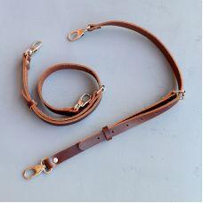 Шлейки регулируемые, размер 75 * 2 см, цвет коричневый тёмный