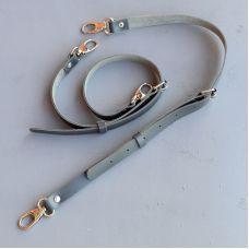 Шлейки регулируемые, размер 75 * 2 см, цвет серый