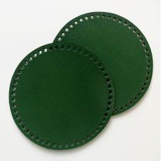Боковина для сумочки, диаметр 18 см, цвет изумрудный