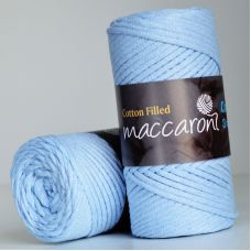 Maccaroni Cotton Filled 3 mm, цвет голубой