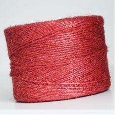 Пряжа Джут, цвет красный