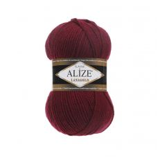 Пряжа Alize Lanagold, цвет 57 (бордовый)