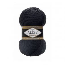 Пряжа Alize Lanagold, цвет 60 (чёрный)