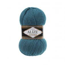 Пряжа Alize Lanagold, цвет 640 (павлиновая зелень)
