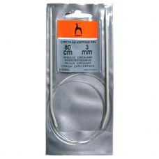 Спицы круговые Pony 3 мм, длина 80 см