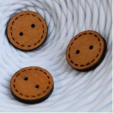 Пуговица деревянная, круг 1, цвет дуб