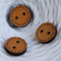 Пуговица деревянная, круг 2, цвет дуб
