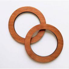 Деревянные ручки, форма круг, цвет дуб