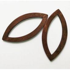 Деревянные ручки, форма миндаль, цвет палисандр