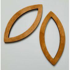 Деревянные ручки, форма миндаль, цвет дуб