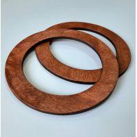 Деревянные ручки, форма круг, цвет каштан