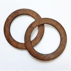 Деревянные ручки, форма круг, цвет палисандр