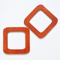 Деревянные ручки, форма квадрат, цвет каштан
