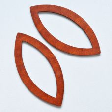 Деревянные ручки, форма миндаль, цвет каштан