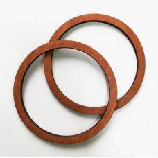 Деревянные ручки, форма круг, цвет дуб, 1 см