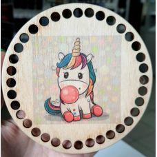 Донышко, форма круг, 120*3 мм, печать 27