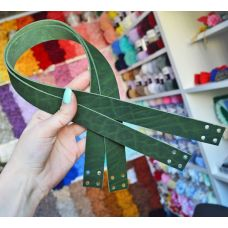 Ручки пришивные, размер 60 * 2,5 см, цвет зелёный