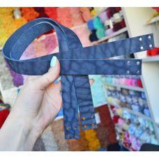 Ручки пришивные, размер 60 * 2,5 см, цвет индиго