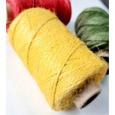 Джут 2-хниточный, цвет жёлтый