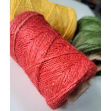 Джут 2-хниточный, цвет красный