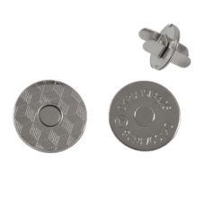 Кнопка магнитная 18 мм, цвет никель