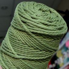 Верёвка крученая 4 мм, цвет хаки