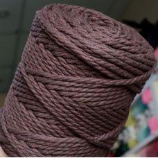 Верёвка крученая 4 мм, цвет шоколад